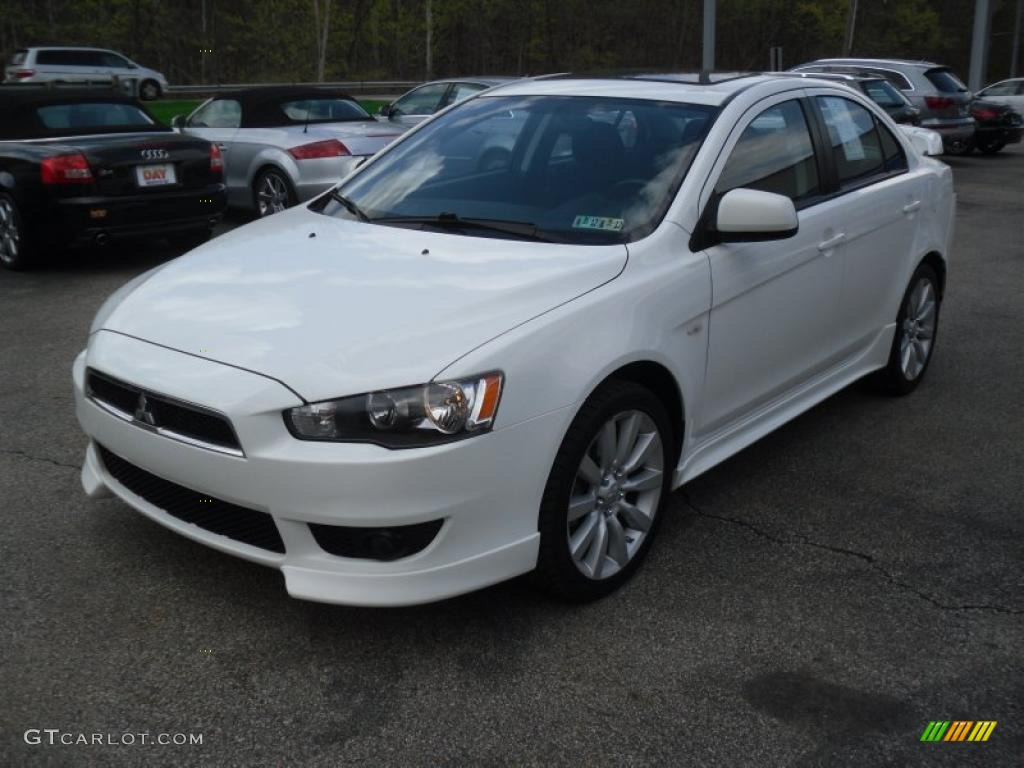 wicked white 2008 mitsubishi lancer gts exterior photo 48683540. Black Bedroom Furniture Sets. Home Design Ideas