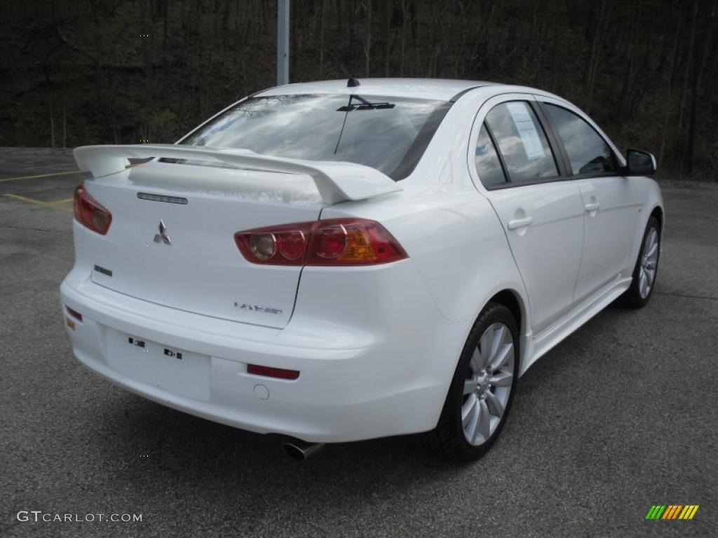 wicked white 2008 mitsubishi lancer gts exterior photo. Black Bedroom Furniture Sets. Home Design Ideas