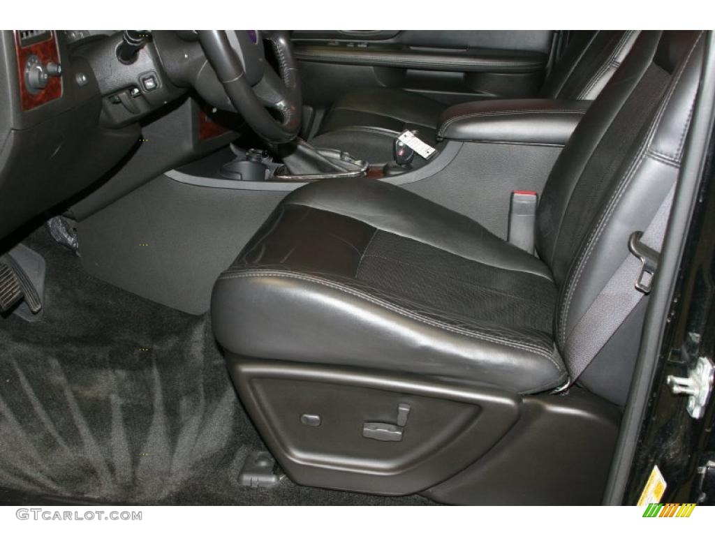 Carbon Black Leather Interior 2006 Saab 9 7x 5 3i Photo