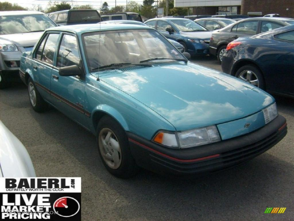 Medium quasar blue metallic chevrolet cavalier