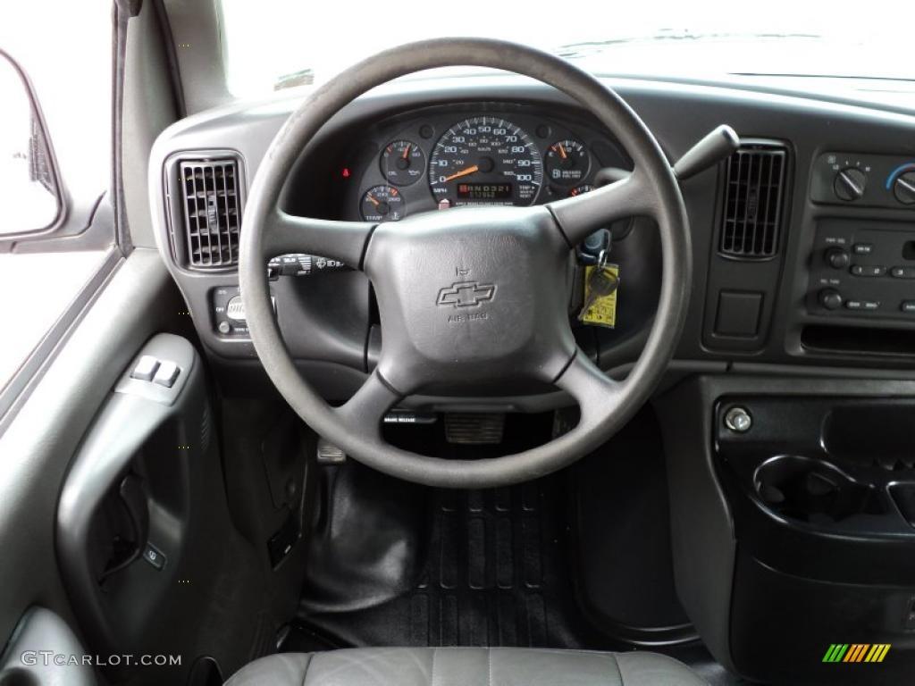 2001 chevrolet express 1500 cargo van dark pewter steering wheel photo 48685759