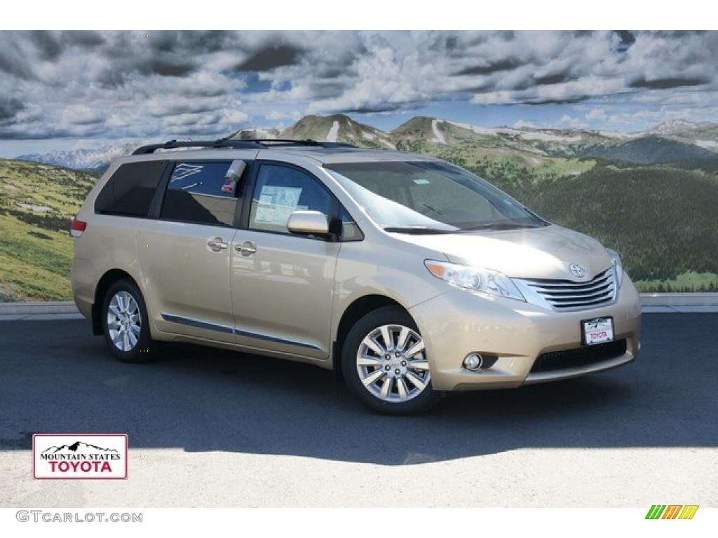 2011 Sienna Limited AWD - Sandy Beach Metallic / Bisque photo #1