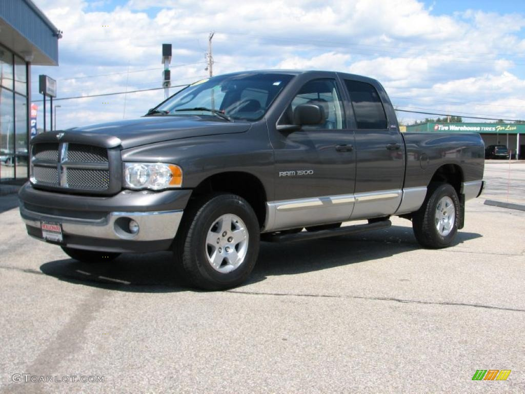 2002 Ram 1500 SLT Quad Cab 4x4 - Graphite Metallic / Dark Slate Gray photo #1