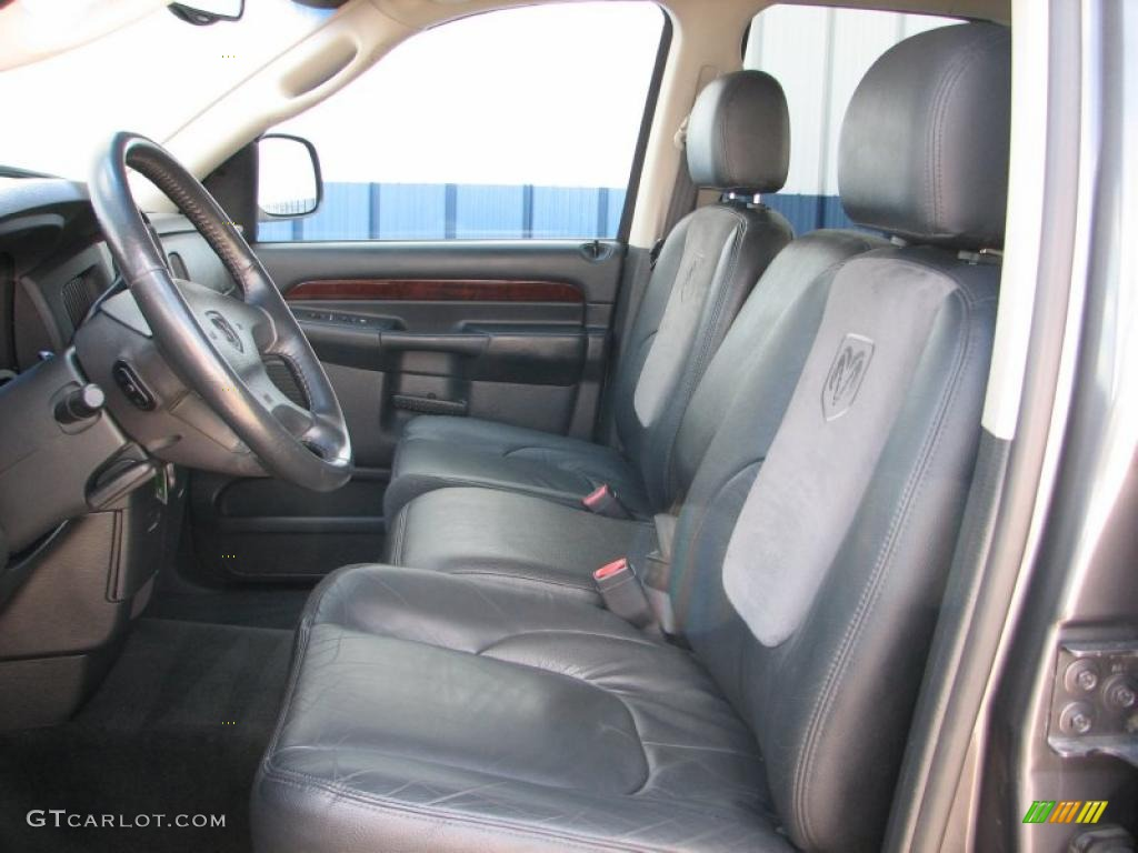 dark slate gray interior 2002 dodge ram 1500 slt quad cab 4x4 photo 48706936. Black Bedroom Furniture Sets. Home Design Ideas
