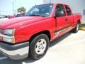 2005 Victory Red Chevrolet Silverado 1500 LS Extended Cab  photo #3