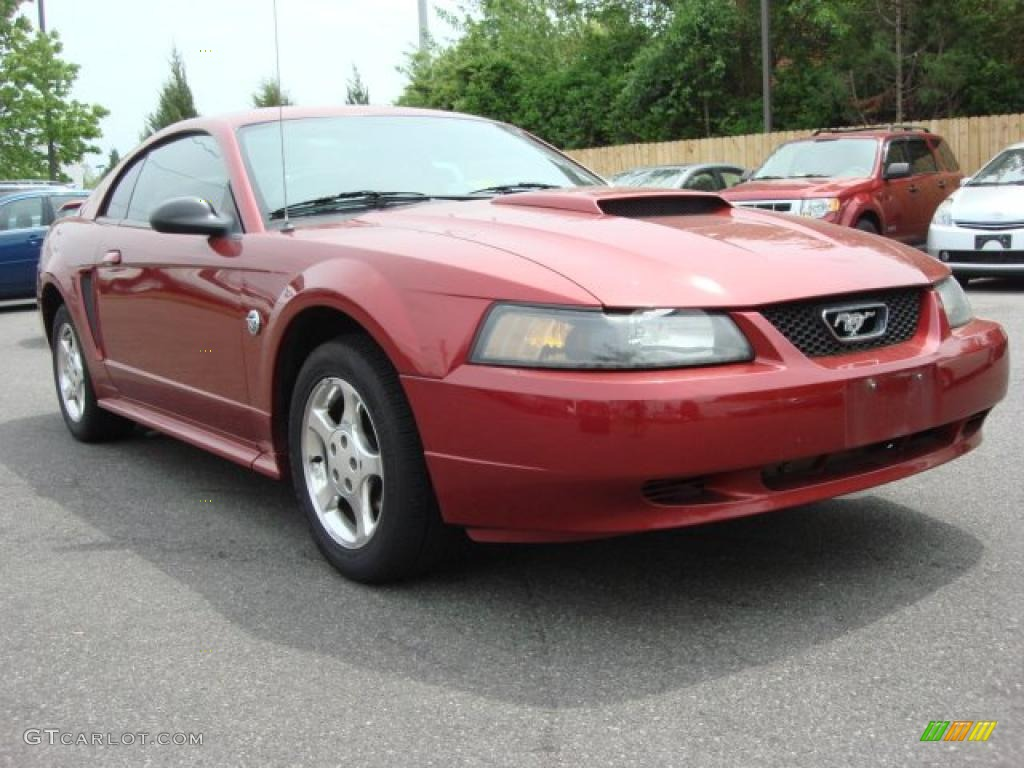 2004 redfire metallic ford mustang v6 coupe 48663185 car color galleries. Black Bedroom Furniture Sets. Home Design Ideas