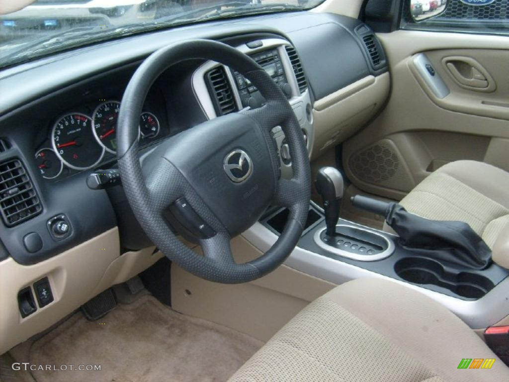 medium pebble beige interior 2005 mazda tribute s 4wd. Black Bedroom Furniture Sets. Home Design Ideas