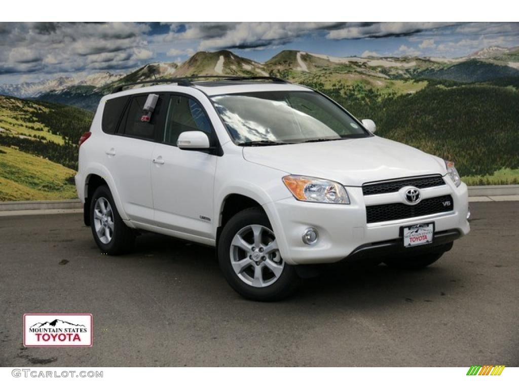 2011 blizzard white pearl toyota rav4 v6 limited 4wd. Black Bedroom Furniture Sets. Home Design Ideas