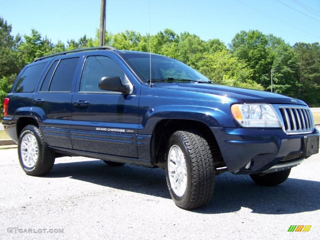 Midnight Blue Pearl 2004 Jeep Grand Cherokee Limited Exterior Photo 48744771