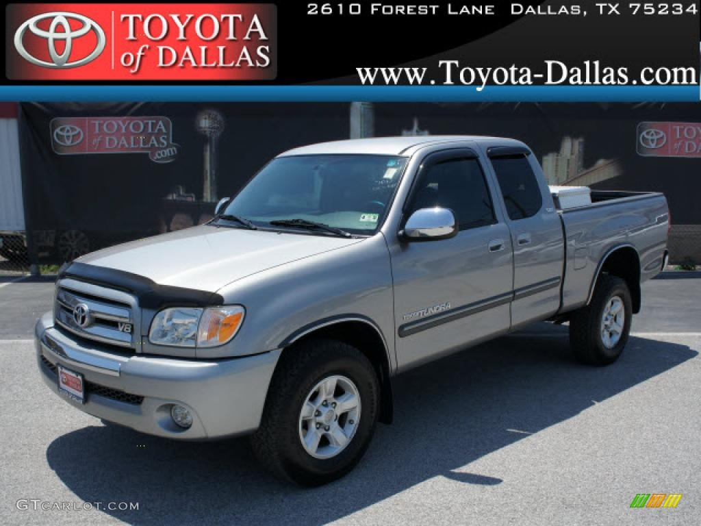 2005 Tundra SR5 Access Cab - Silver Sky Metallic / Light Charcoal photo #1