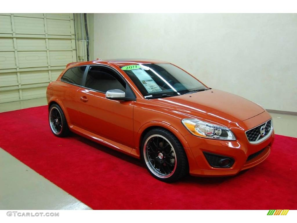 2011 orange flame metallic volvo c30 t5 48770248. Black Bedroom Furniture Sets. Home Design Ideas