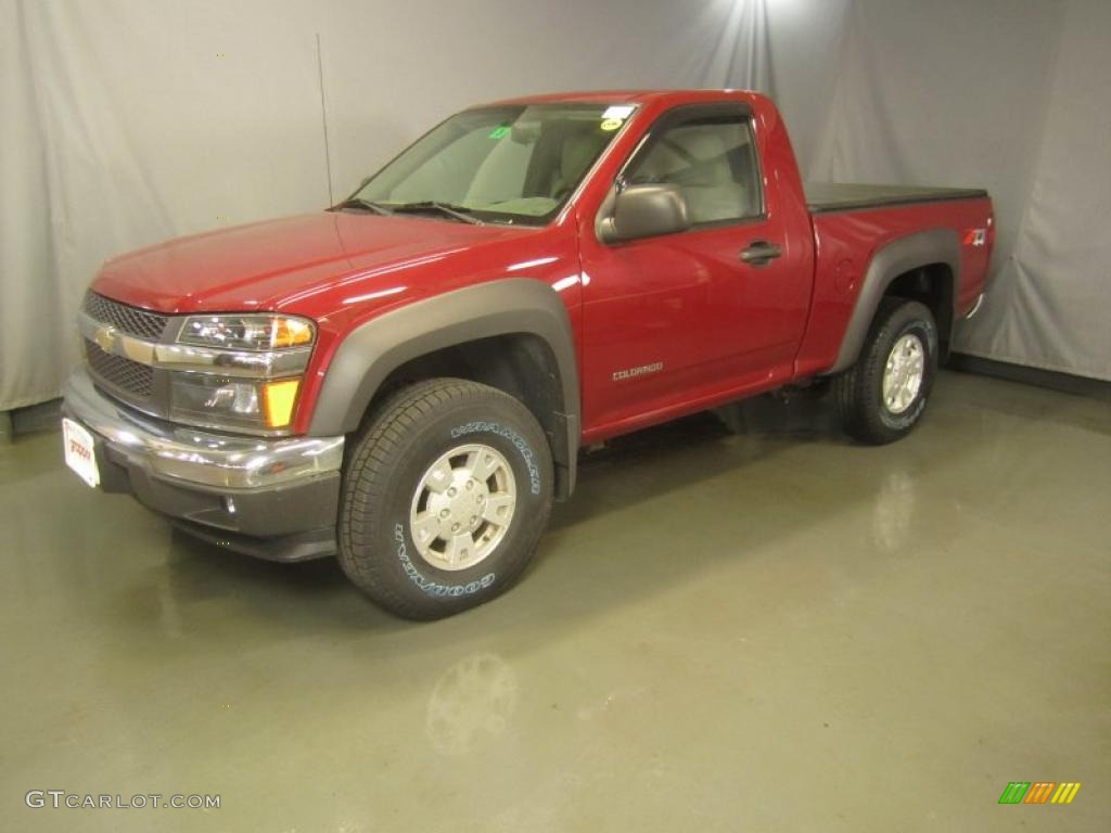 2005 colorado z71 regular cab 4x4 dark cherry red metallic medium dark pewter photo