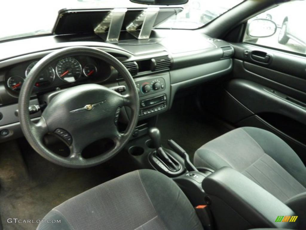 Dark slate gray interior 2006 chrysler sebring convertible for Dark grey interior