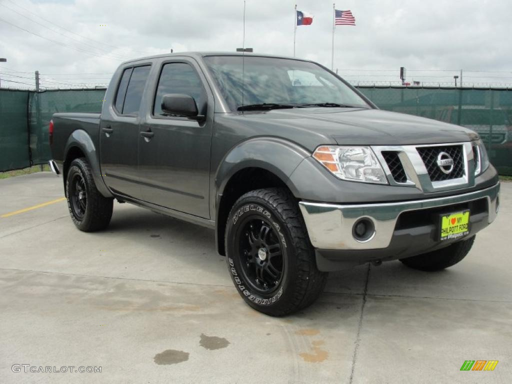 2009 storm gray nissan frontier se crew cab 4x4 48770359 car color galleries. Black Bedroom Furniture Sets. Home Design Ideas