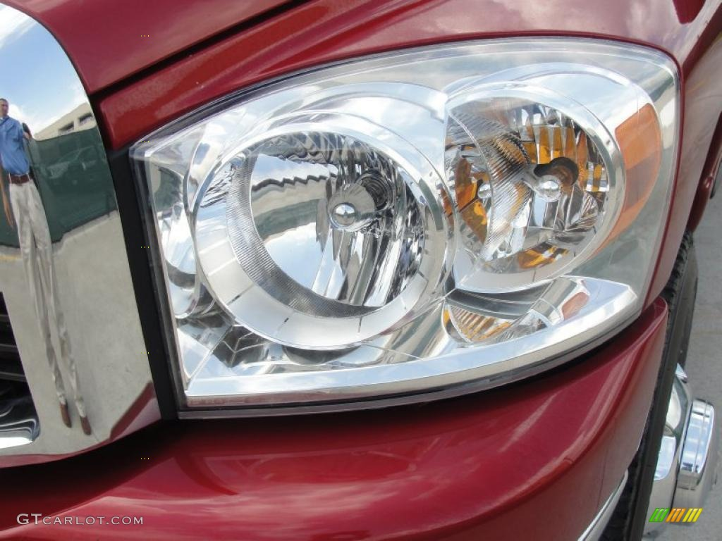 2007 Ram 3500 Big Horn Quad Cab 4x4 Dually - Inferno Red Crystal Pearl / Medium Slate Gray photo #10