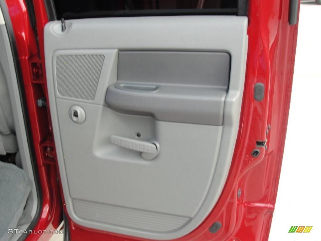 2007 Ram 3500 Big Horn Quad Cab 4x4 Dually - Inferno Red Crystal Pearl / Medium Slate Gray photo #33