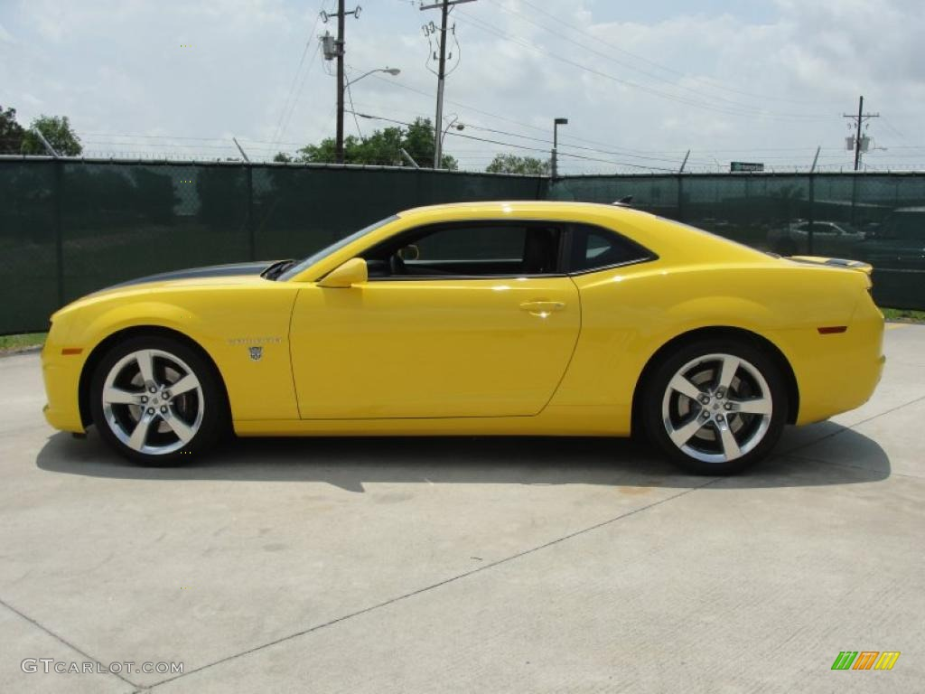 Rally Yellow 2010 Chevrolet Camaro Ss Coupe Transformers Special Edition Exterior Photo