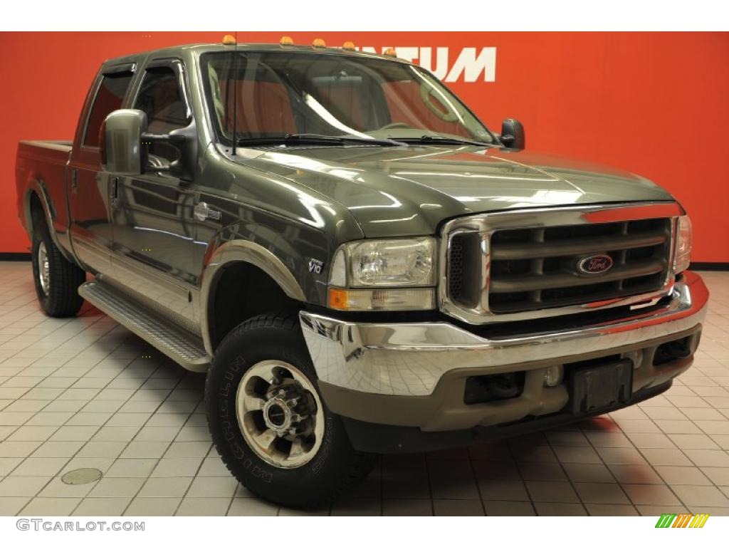 2003 estate green metallic ford f250 super duty king ranch crew cab 4x4 48814783. Black Bedroom Furniture Sets. Home Design Ideas