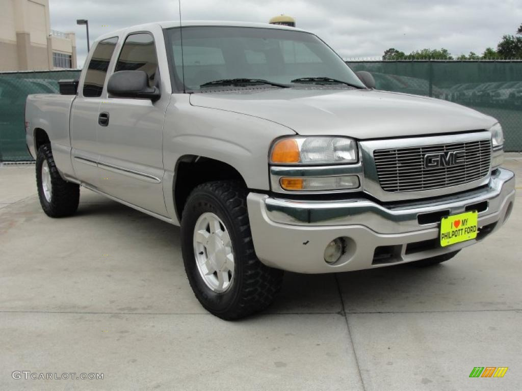 2004 silver birch metallic gmc sierra 1500 sle extended. Black Bedroom Furniture Sets. Home Design Ideas