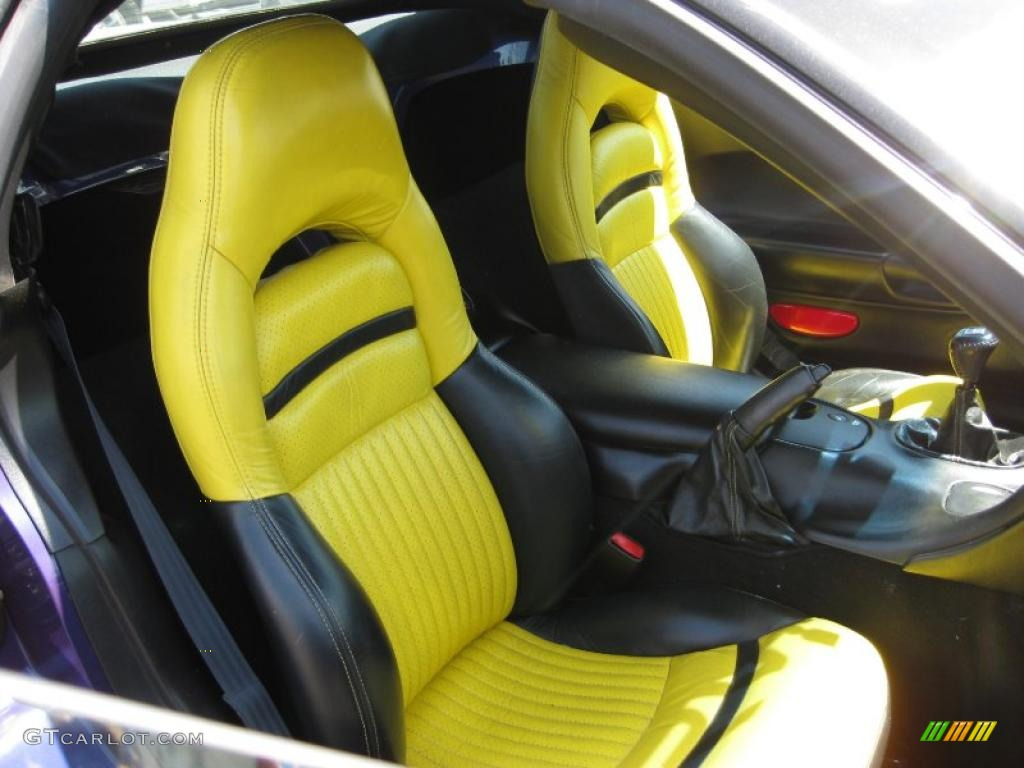 yellow black interior 1998 chevrolet corvette indianapolis 500 pace car convertible photo. Black Bedroom Furniture Sets. Home Design Ideas