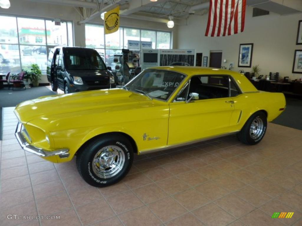 Yellow 1968 Ford Mustang Coupe Exterior Photo 48894844