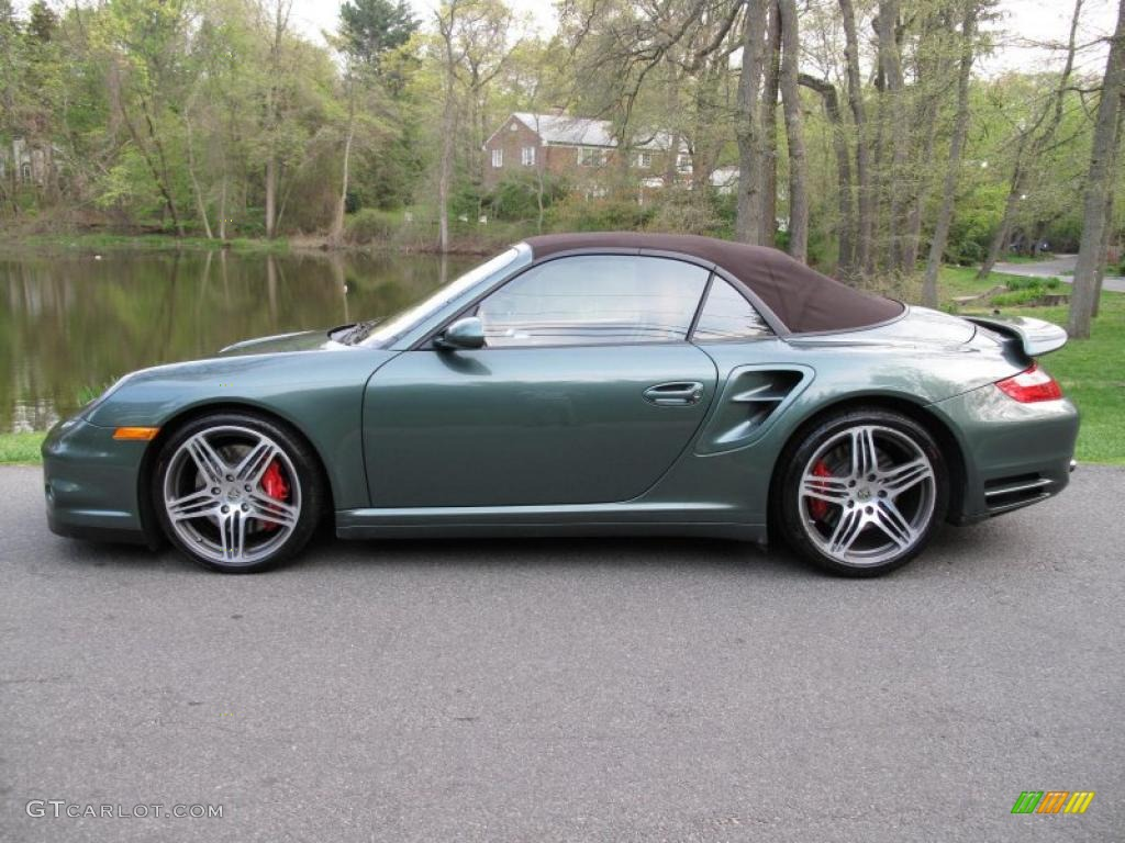 malachite green metallic 2008 porsche 911 turbo cabriolet. Black Bedroom Furniture Sets. Home Design Ideas