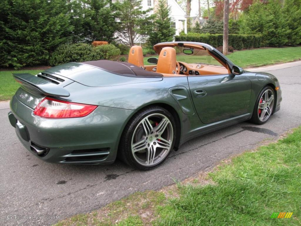 Malachite Green Metallic 2008 Porsche 911 Turbo Cabriolet Exterior Photo 48896145 Gtcarlot Com