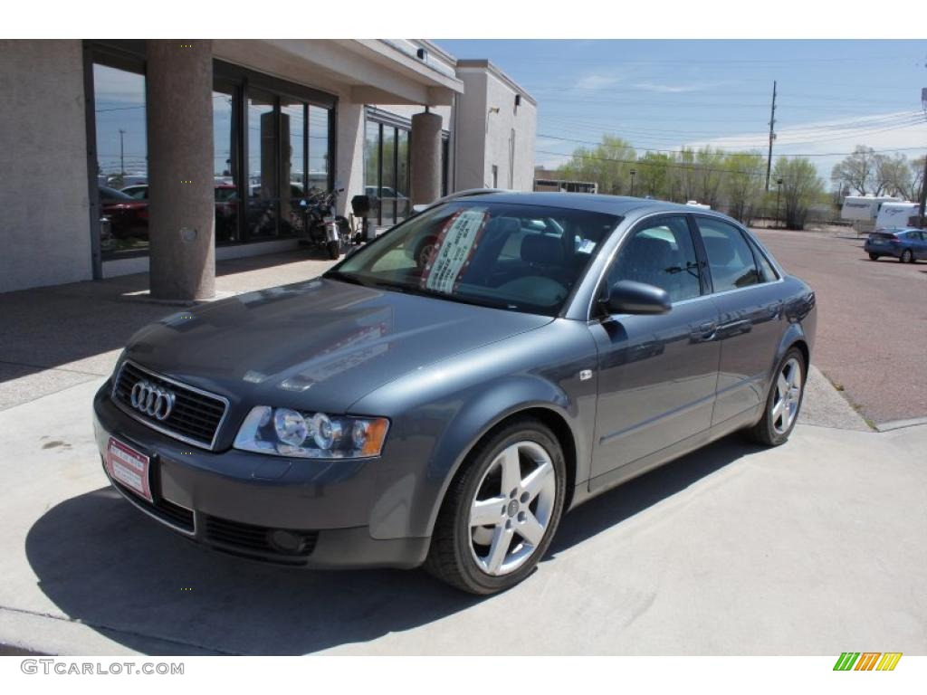 dolphin grey metallic 2004 audi a4 3 0 quattro sedan. Black Bedroom Furniture Sets. Home Design Ideas