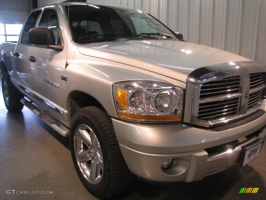 2006 Ram 1500 Laramie Quad Cab 4x4 - Bright Silver Metallic / Medium Slate Gray photo #1