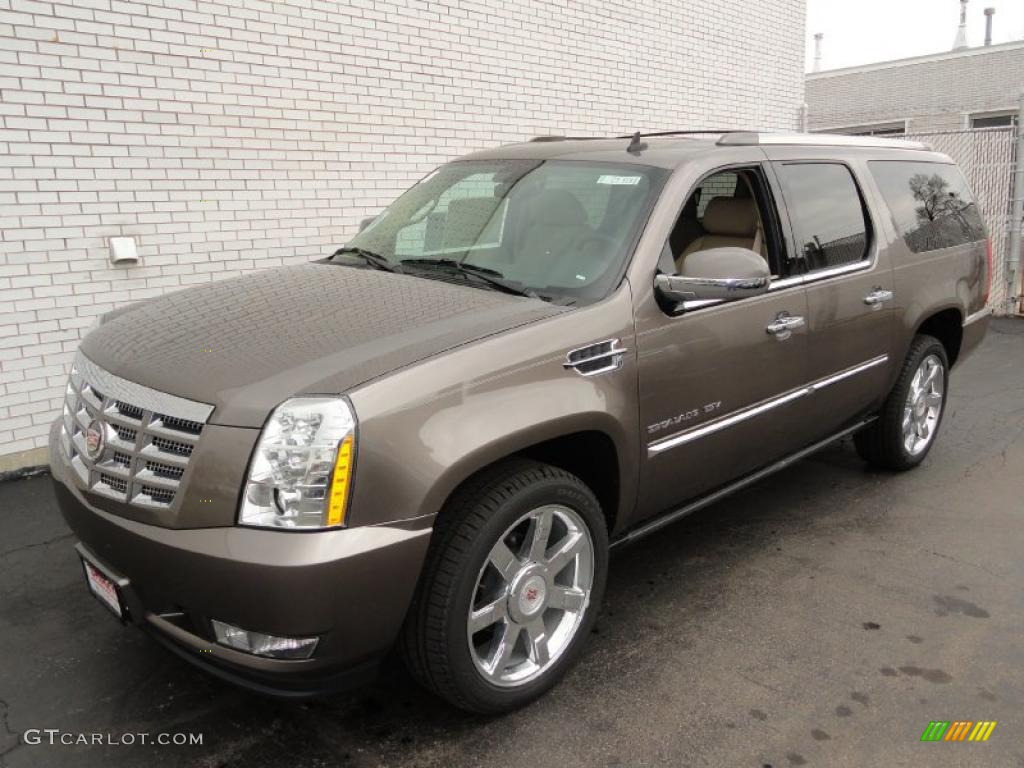 2011 mocha steel metallic cadillac escalade esv premium. Black Bedroom Furniture Sets. Home Design Ideas