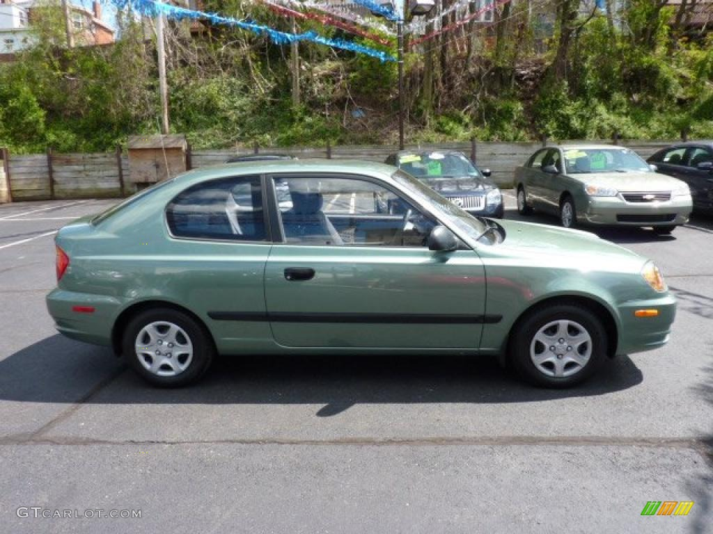 Quartz Green Metallic 2003 Hyundai Accent GL Coupe ...