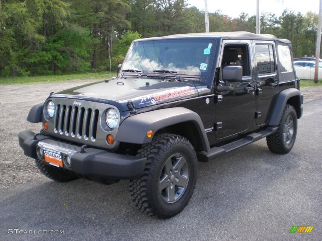 2010 Black Jeep Wrangler Unlimited Mountain Edition 4x4 #48924799 ...