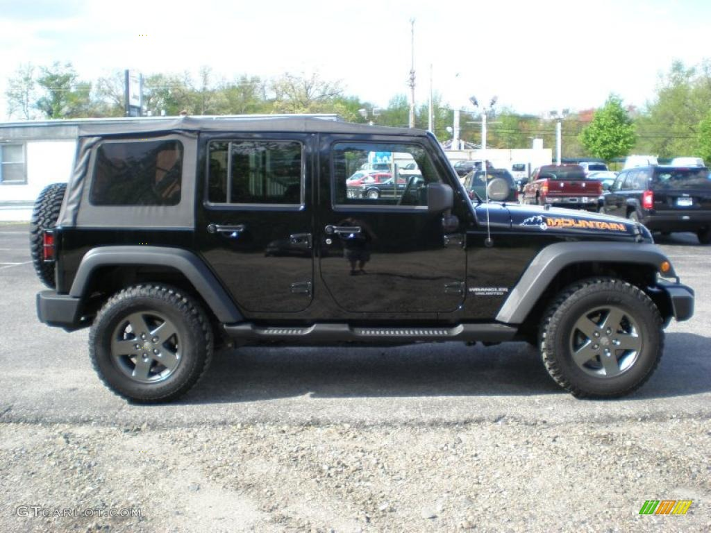 black 2010 jeep wrangler unlimited mountain edition 4x4 exterior photo. Cars Review. Best American Auto & Cars Review
