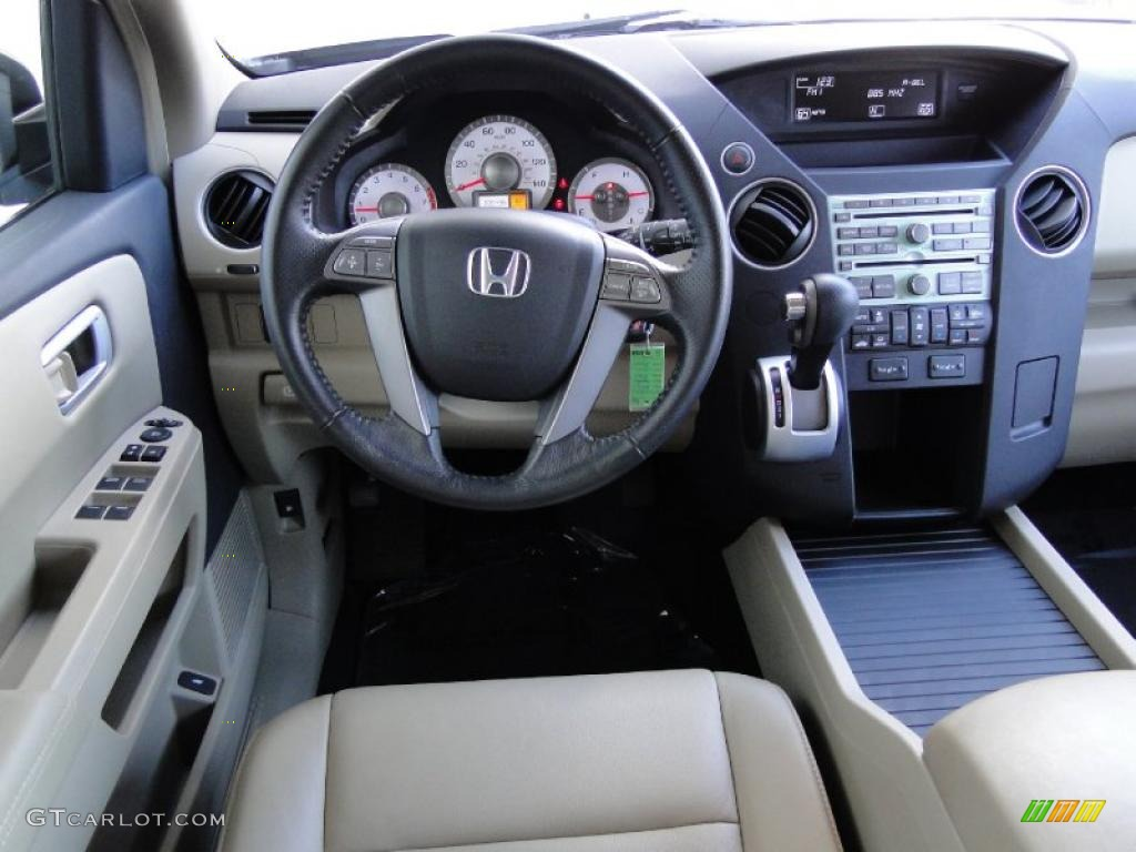 2009 Honda Pilot Ex L Beige Dashboard Photo 48946141
