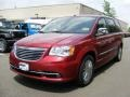 Deep Cherry Red Crystal Pearl 2011 Chrysler Town & Country Limited