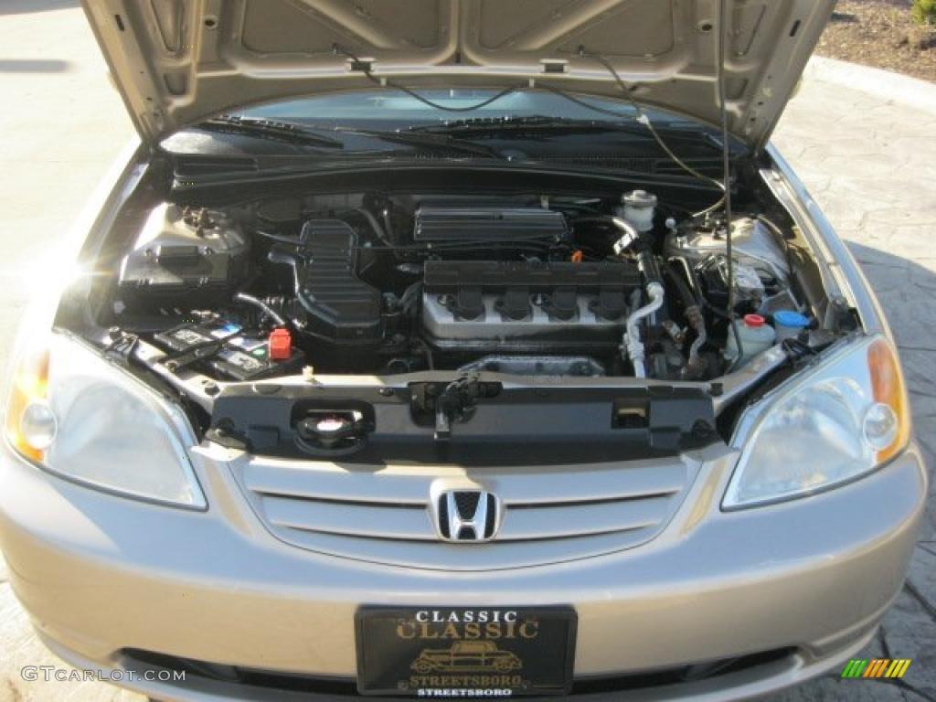 2001 Honda Civic Ex Sedan 1 7l Sohc 16v 4 Cylinder Engine Photo 48959932