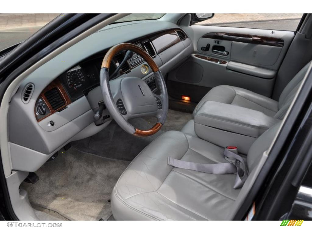 light graphite interior 2000 lincoln town car cartier photo 48973958. Black Bedroom Furniture Sets. Home Design Ideas