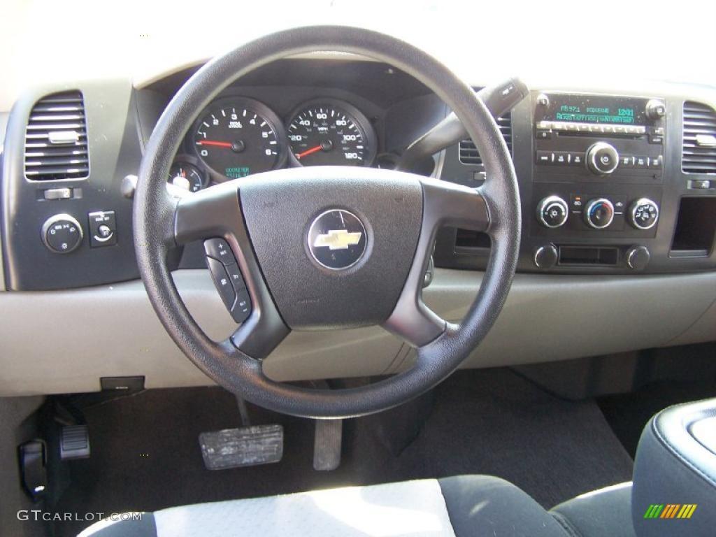 2008 Chevrolet Silverado 1500 Ls Extended Cab Ebony Dashboard Photo 49000796