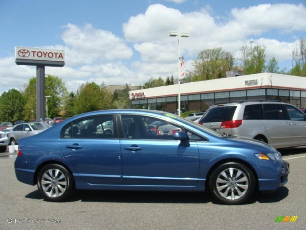 2010 Atomic Blue Metallic Honda Civic EX Sedan #48981095 ...