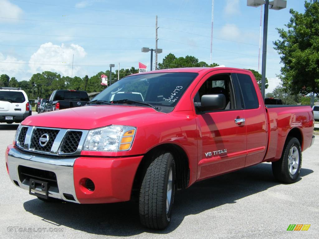 2007 red alert nissan titan xe king cab 442876 car color galleries. Black Bedroom Furniture Sets. Home Design Ideas