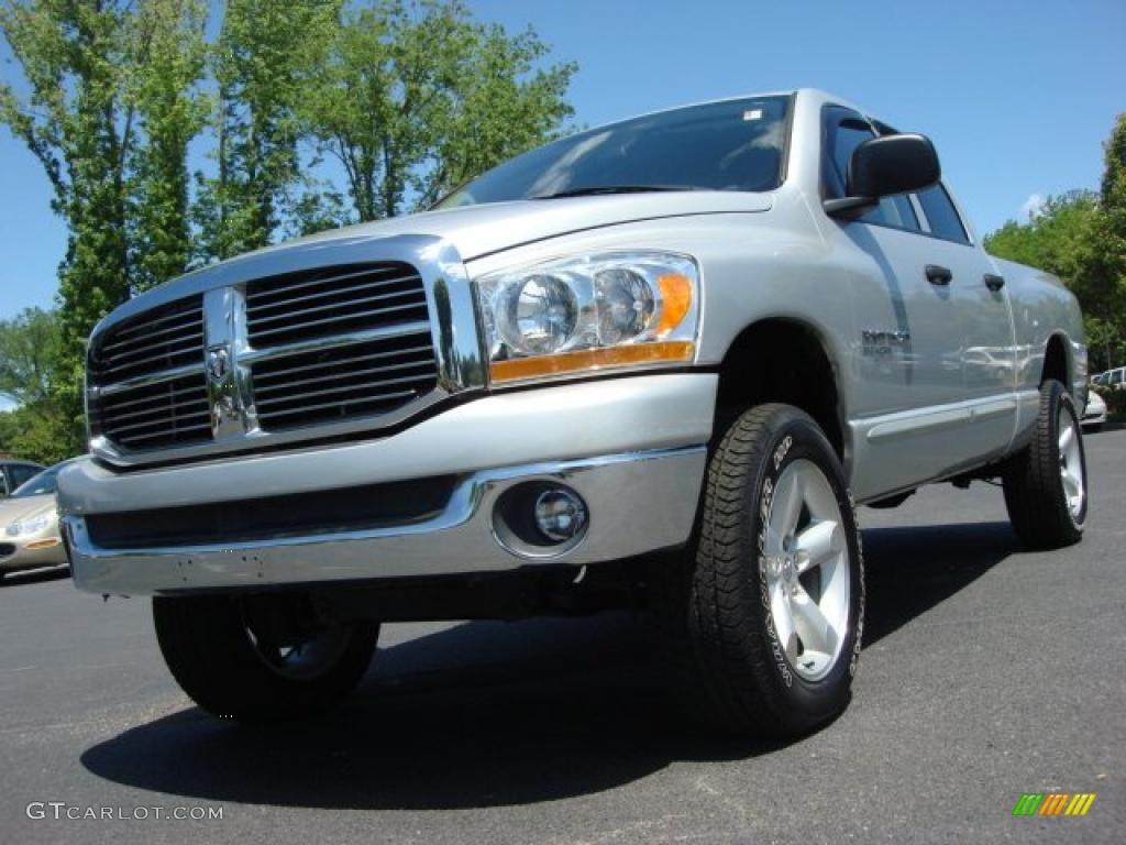 2006 Ram 1500 Big Horn Edition Quad Cab 4x4 - Bright Silver Metallic / Medium Slate Gray photo #1
