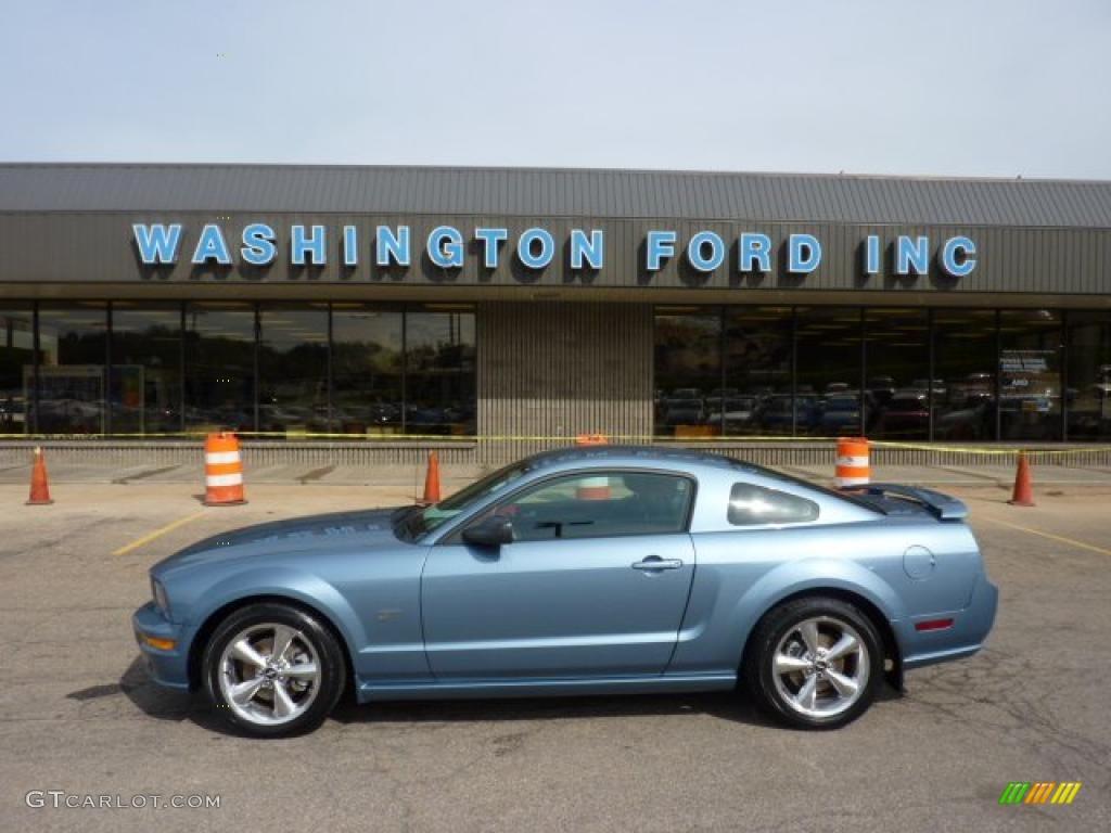 2007 Mustang GT Premium Coupe - Windveil Blue Metallic / Charcoal photo #1