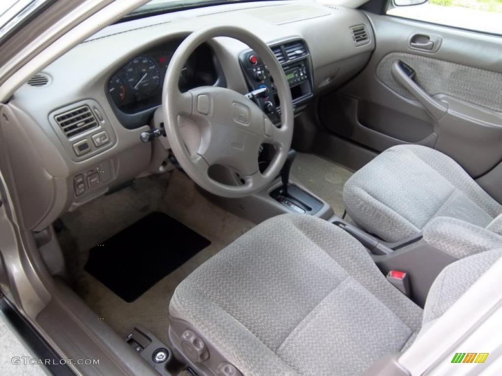 Beige Interior 2000 Honda Civic Ex Sedan Photo 49041024
