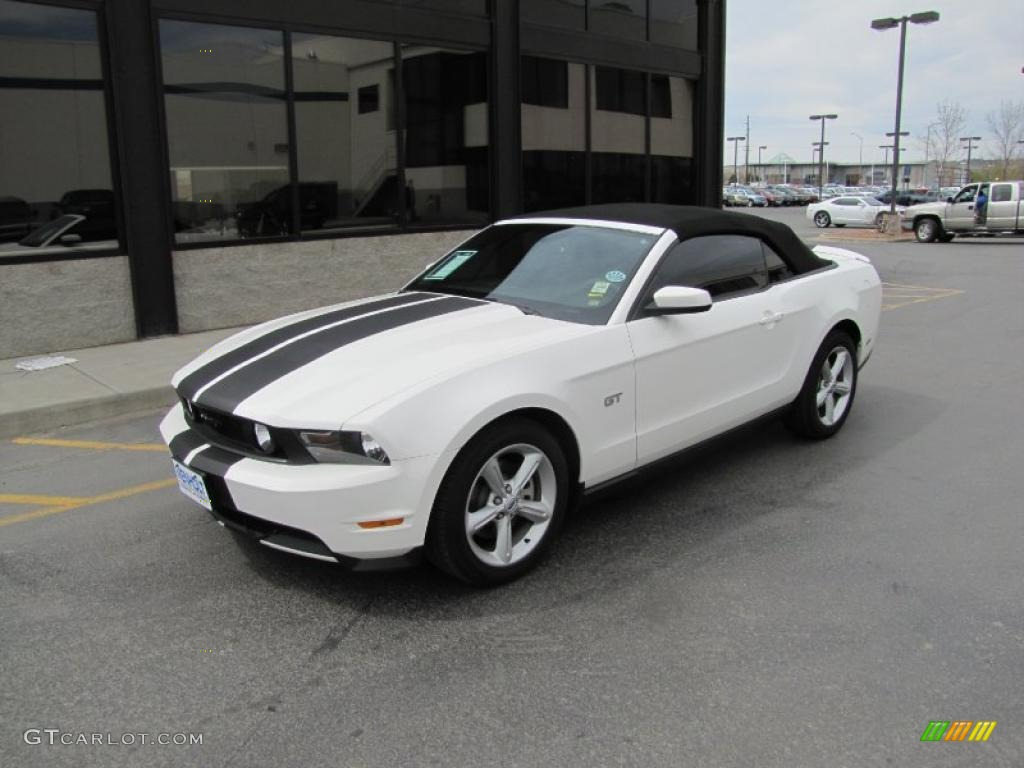 Performance White 2010 Ford Mustang Gt Premium Convertible