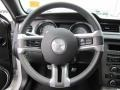 2010 Ford Mustang Charcoal Black/Silver Soho Interior Steering Wheel Photo