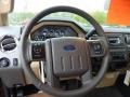 2011 Ford F250 Super Duty Adobe Two Tone Leather Interior Steering Wheel Photo