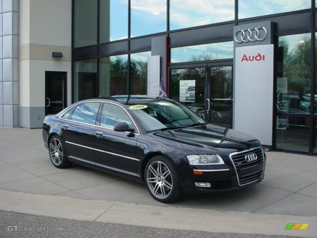 phantom black pearl effect 2008 audi a8 l 4 2 quattro exterior photo 49078961. Black Bedroom Furniture Sets. Home Design Ideas