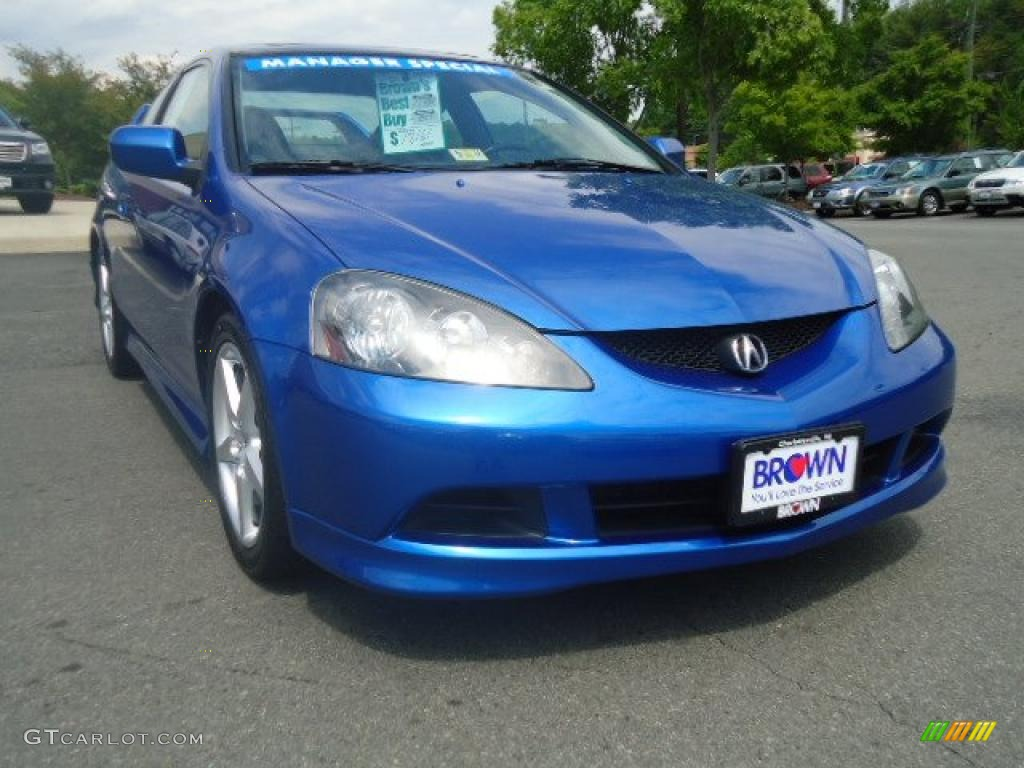 2006 RSX Type S Sports Coupe - Vivid Blue Pearl / Ebony photo #1