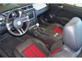 2011 Ford Mustang Charcoal Black/Red Interior Prime Interior Photo