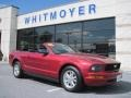 2007 Redfire Metallic Ford Mustang V6 Premium Convertible  photo #1